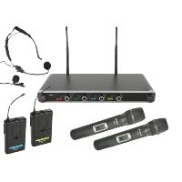 Chord NU4-C Quad Combo Handheld & Beltpack Wireless Microphone System