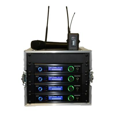 Trantec S5.5 Racked 'n' Ready 4 Channel Cube UHF Wireless Microphone System (Channel 38)