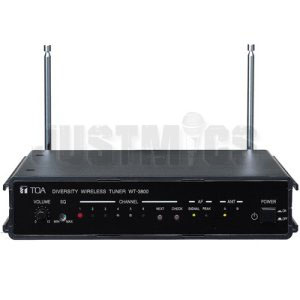 TOA WT-3800 VHF Wireless Tuner with 6 Selectable Channel Frequencies, Rack Mountable