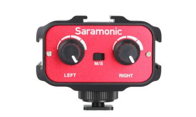 "Saramonic SR-AX100 Battery-Free 2-Channel On-Camera 1/8"" (3.5mm) Audio Mixer"