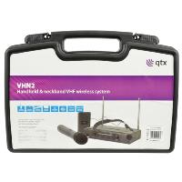 QTX VHN2 Dual Handheld & Neckband VHF Wireless Microphone System
