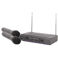 QTX VH2 Dual Handheld VHF Wireless Microphone System
