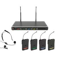 Chord NU4-N Quad Beltpack Wireless Microphone System