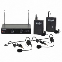 Gemini VHF-02HL Dual Wireless System Headset & Lapel